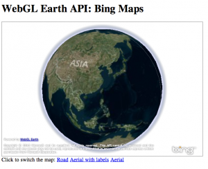 WebGL Earth BingMap